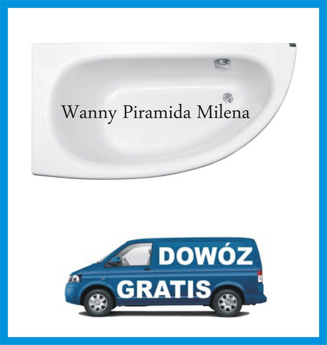 Wanna narożna Piramida Milena 150