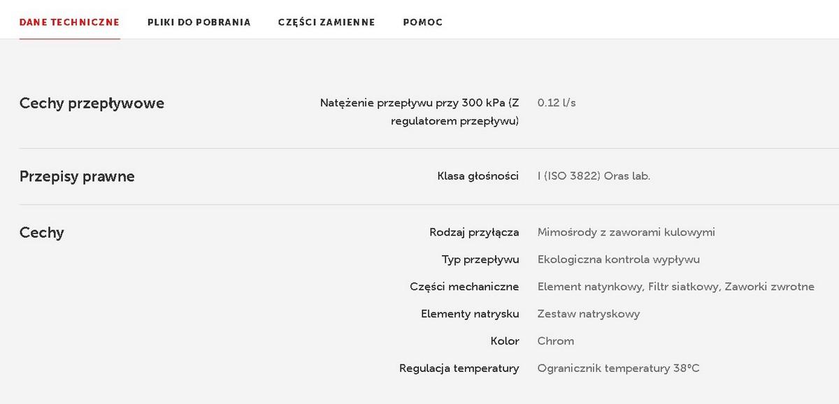 Zestaw natryskowy termostatyczny Oras Nova 7452X